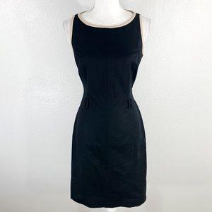 Ralph Lauren black tan trim sheath dress